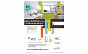 house painter flyer template design With painting flyers templates free