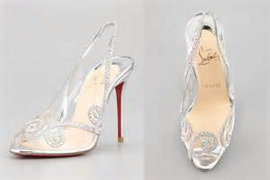 neiman wedding shoes illusion wedding shoes for 2013 brides glass slipper louboutins onewed