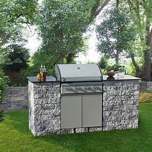 Outdoor Küche Beton : ehl outdoorkitchen set mini grau anthrazit 200 x 77 x ~ Michelbontemps.com Haus und Dekorationen