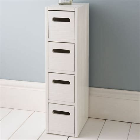 Drawers And Storage by White Wooden Small Slimline Bathroom Storage Drawers