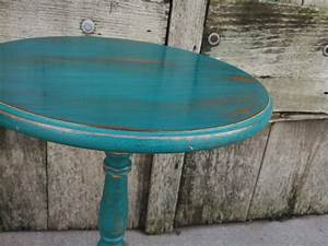 rustic teal side table accent table shabby chic decor With rustic teal coffee table