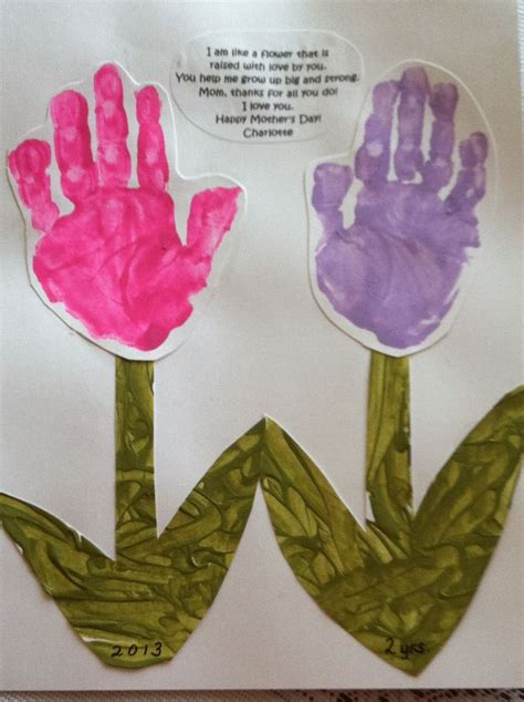 mothers day handprint flowers hand print poems