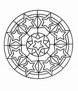 Coloring Stars Mandala Pages sketch template