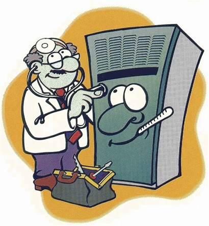 Furnace Air Heating Cartoon Repair Hvac Conditioning