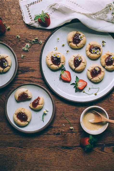 Tips and tricks for beautiful coconut flour peanut butter cookies. Honey-Sweetened Gluten Free Jam Thumbprint Cookies | Jam ...