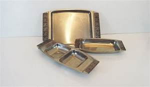 Vintage Stainless Steel Set of Dishes / Trays - Stanley