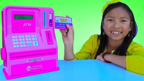 Wendy Pretend Play With Atm Machine Toy! Kid Learning How