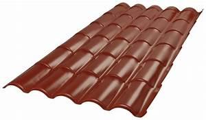 Plaque Ondulée Pour Toiture : plaque couverture toit imitation tuile ~ Premium-room.com Idées de Décoration