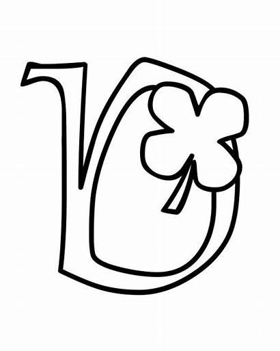 Quadrifoglio Alphabet Alfabeto Disegni Fancy Colorare Block