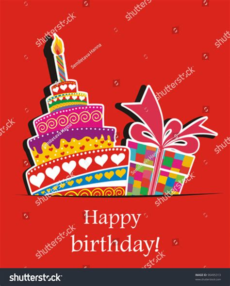 birthday card celebration red background birthday stock