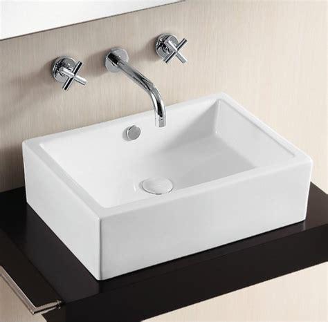 rectangular vessel bathroom sinks contemporary above counter rectangular vessel bathroom