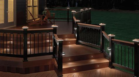 deck railing solar lights interior design ideas