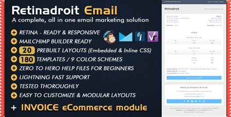 mailchimp ecommerce templates responsive email template invoice template mailchimp email editor ready html email templates