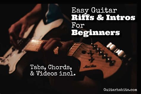 Top 25 Easy Guitar Riffs and Intros - GUITARHABITS