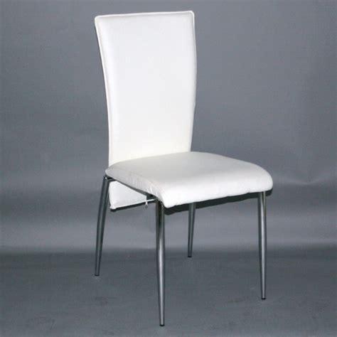 chaise blanche de cuisine chaise de cuisine simili cuir