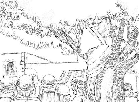 zacchaeus climbs tree coloring page