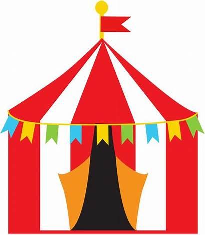Circus Clipart Theme Cliparts Clip Carnival Tent