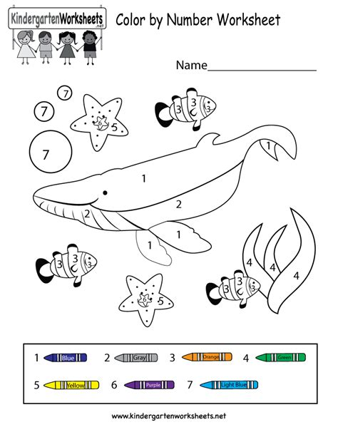 coloring math worksheets kindergarten color of