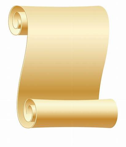 Scroll Clipart Gold Simple Transparent Clip Empty