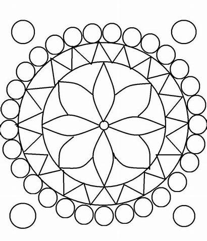 Rangoli Patterns Coloring Printable Pattern Pages Designs