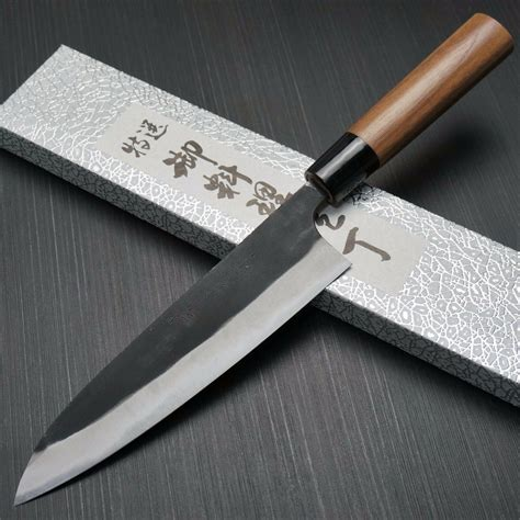 Japanese Carbon Steel Kitchen Knives by Japanese Yamamoto Aogami Blue Steel 2 Gyuto Chef Knife