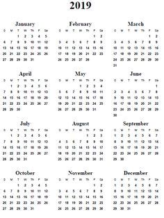 annual calendar portrait printable calendar