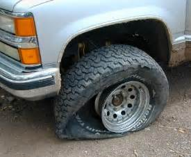 Truck with Flat Tire