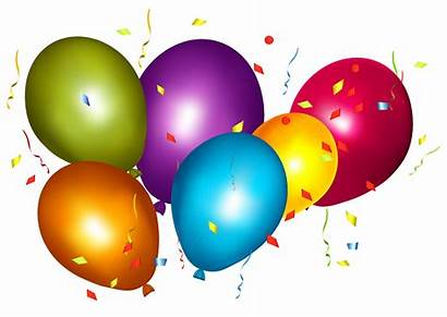 Confetti Balloons Transparent Clipart Balloon Colorful Birthday
