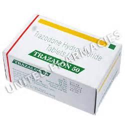 Trazalon (Trazodone Hydrochloride) - 50mg (10 Tablets) Image1  Depression Trazodone