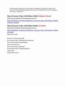 Economy Today Schiller Manual
