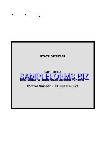 gift deed form texas gift ftempo