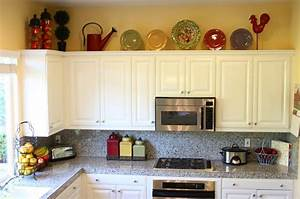 rustic decorating above kitchen cabinets 781