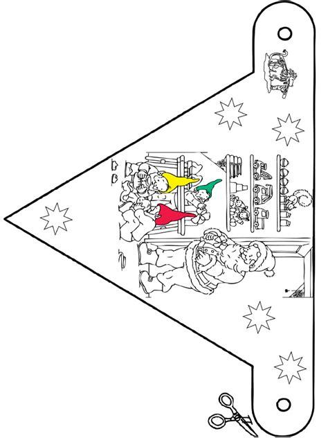 Kleurplaat Sinterklaas Peuters Vlaggetjes by Kerst Vlaggetje 9 Knutselen Kerst