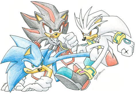 Sonic Vs Shadow Vs Silver By N0b0d1 On Deviantart