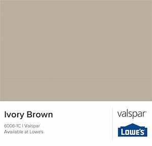 Ivory Brown from Valspar | Paint | Pinterest | Young adult ...