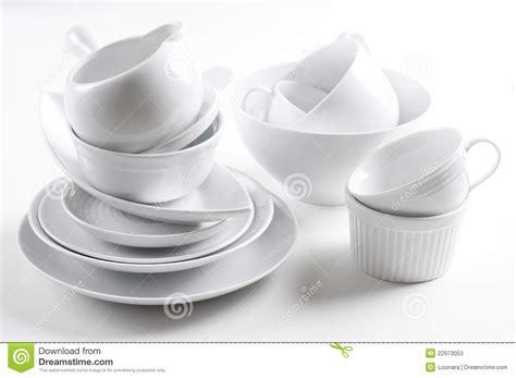 Utensilios Blancos De La Loza Y De La Cocina Fotos De