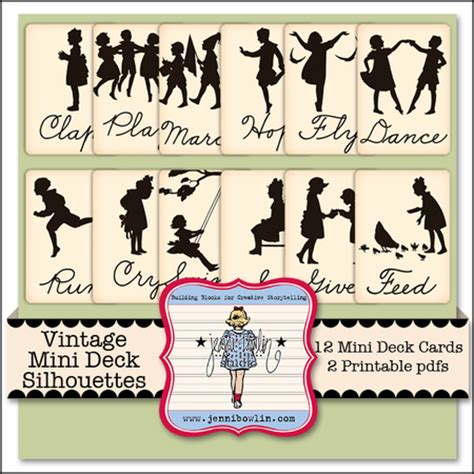 Silhouette Deck Plan Printable by Vintage Mini Deck Silhouettes Snap Click Supply Co