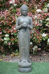Statue Bouddha Exterieur : statue bouddha debout 150 cm marron antique ~ Teatrodelosmanantiales.com Idées de Décoration
