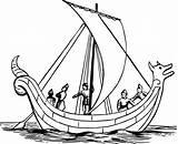 Boat Coloring Drawing Pages Ship Sailing Sail Viking Anglo Sea Ocean Sailboat Saxon Paddle Ships Draw Drawings Children Clipartmag Clipart sketch template