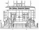 Library Colour Memorial Villanova Coloring Falvey Resolution sketch template