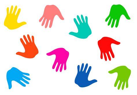 Colourful Handprints Free Stock Photo
