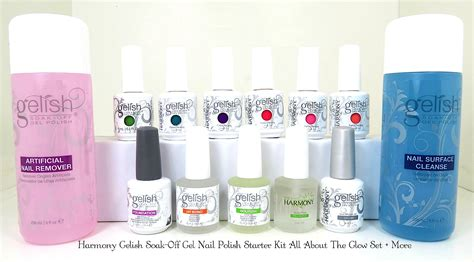 Harmony Gelish Gel Nail Polish Starter Kit All About The
