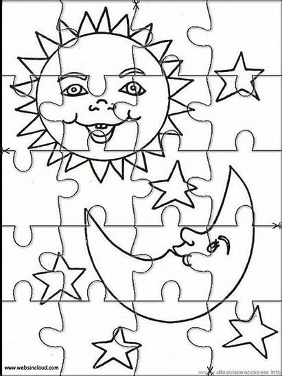Puzzles Printable Jigsaw Coloring Space Puzzle Cut