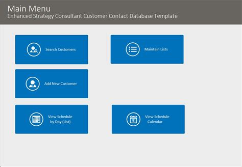 Contact Strategy Template by Microsoft Access Enhanced Customer Contact Database Template