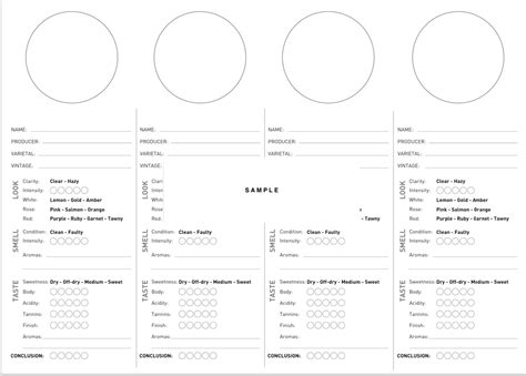 digital wine tasting sheet blanco wine tasting