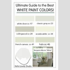 How To Choose The Best White Paint Color Every Time! {home