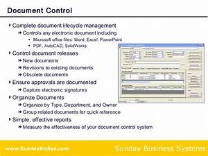 training and document control solution for iso 9001 compliance With documents control iso