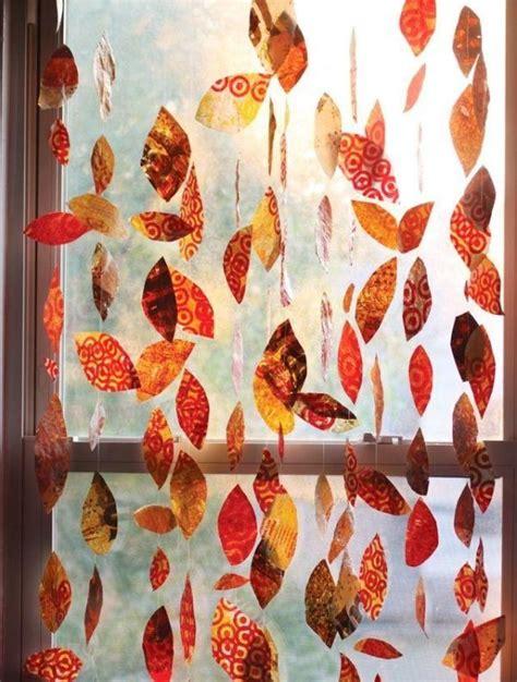 Herbstdeko Für Die Fenster by Herbstgirlande F 252 R Die Eingangst 252 R Basteln Mit Buntem