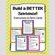 Build A Better Sentence! Cards For Upper Elementary & Middle {common Core}  Tmf 46 Freebies