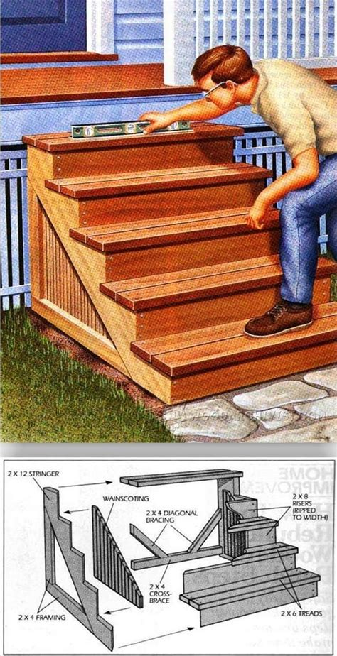 building porch steps outdoor plans  projects